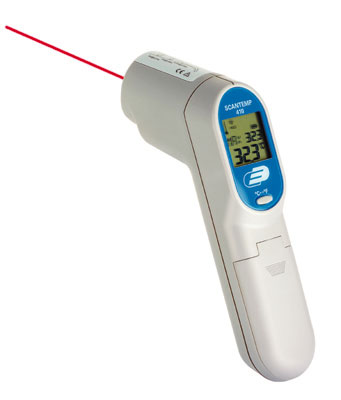 ScanTemp 410 - Infrarot-Thermometer mit Laservisier, Bereich -33 ...+500 °C