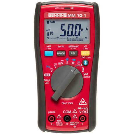 044687 - BENNING MM 10-1 044687 TRUE RMS Digital-Multimeter mit Datenlogger, Bluetooth und App