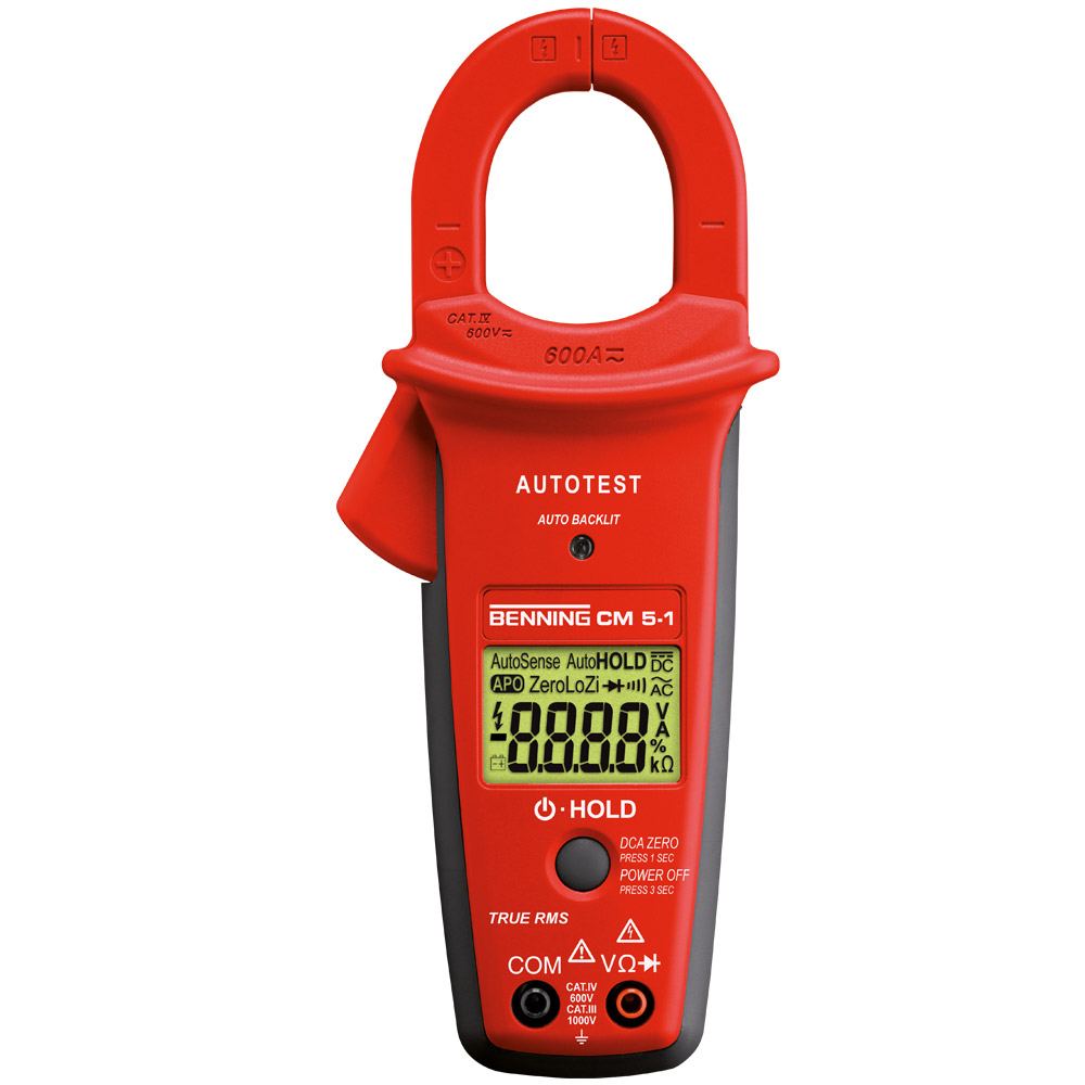 044066 - Benning CM 5-1 044066 Digital-Stromzangen-Multimeter mit AUTOTEST-Funktion