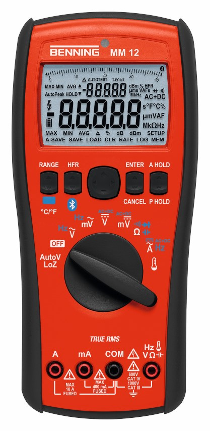 Benning MM 12 - Digitales Multimeter MM 12 incl. Kalibrierzertifikat